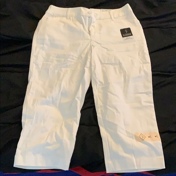 St. John's Bay Pants - White Capri